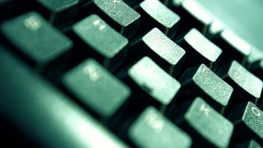 Corporate work, standard computer keyboard motion concept 4k   Shutterstock HD Video #1039153100