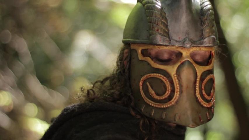 Medieval Warrior splattered with blood