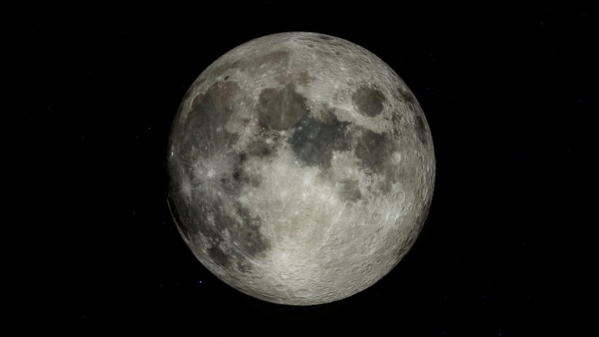 3d rendering of realistic full moon with star background, Elements of these images furnished by NASA.   Shutterstock HD Video #1039161578