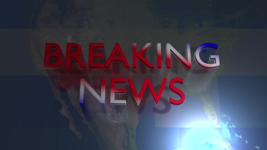 Breaking news video background with map background seamless video loop | Shutterstock HD Video #1039183514