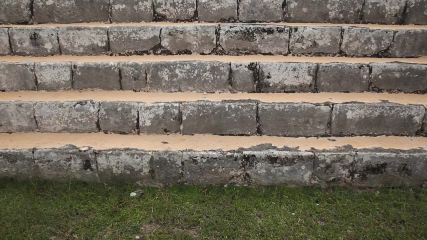 View of steps at great pyramid at CHICHEN ITZA - Tinúm Municipality, Yucatán State - MEXICO