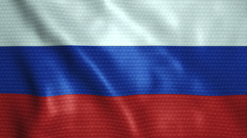 Russia flag waving seamless in 4K, flag fabric texture | Shutterstock HD Video #1039248626