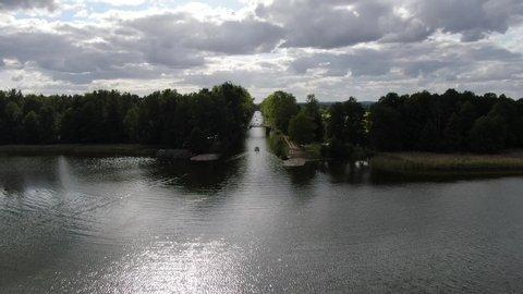 canal talty in mikolajki drone