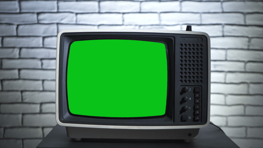 Old tv with chroma key and human's hands | Shutterstock HD Video #1039313438