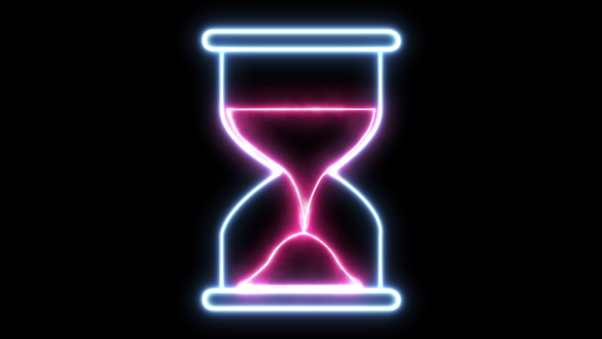 Neon Hourglass filling up in 30 seconds