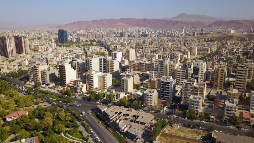 Aerial view of historical city Tabriz in time, Iran   Shutterstock HD Video #1039467119