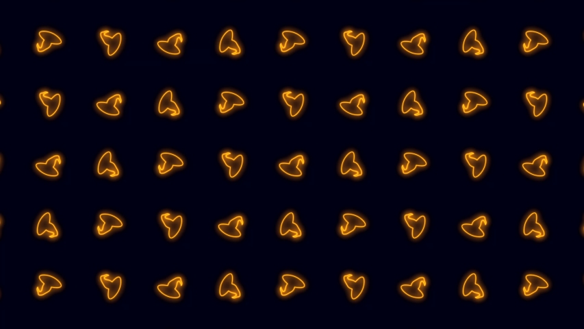 Halloween Witch Hat in Glowing Orange Dancing Tiled Looping Motion Graphics Clockwise   Shutterstock HD Video #1039487540