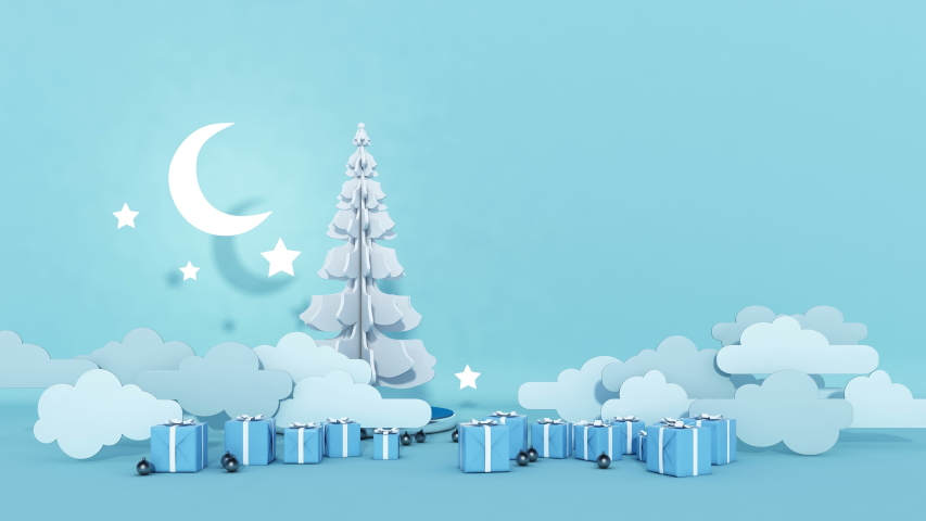 Christmas tree, Seamless loop 3D render animation 4k UHD 3840x2160 | Shutterstock HD Video #1039507040