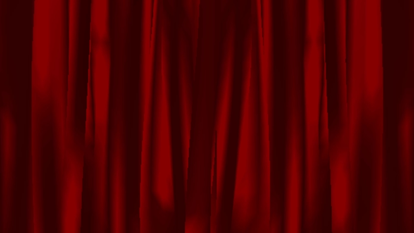Animation Red curtain Open from the middle to the side. | Shutterstock HD Video #1039510394
