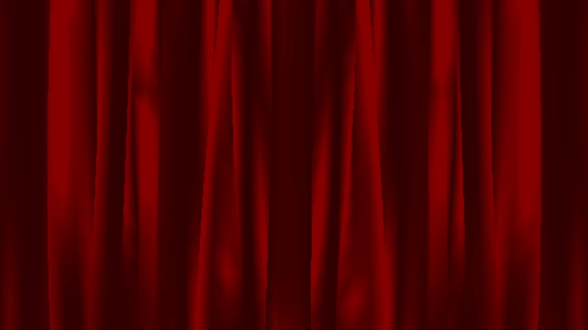 Animation Red curtain Closed from the side to the middle. | Shutterstock HD Video #1039510460