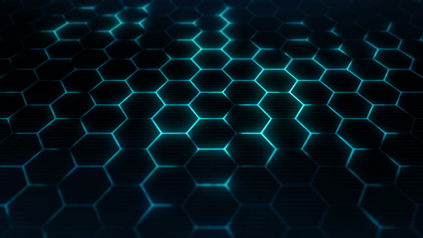 Hexagons texture for futuristic surface concept. Abstract sci-fi background. Closeup camera view. Seamless loop. | Shutterstock HD Video #1039532489