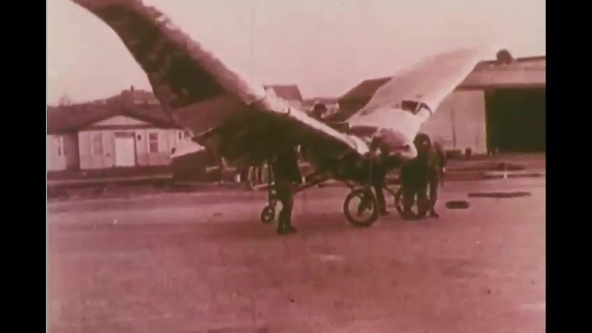 CIRCA 1970s - Montage of men trying out early plane designs and sometimes failing