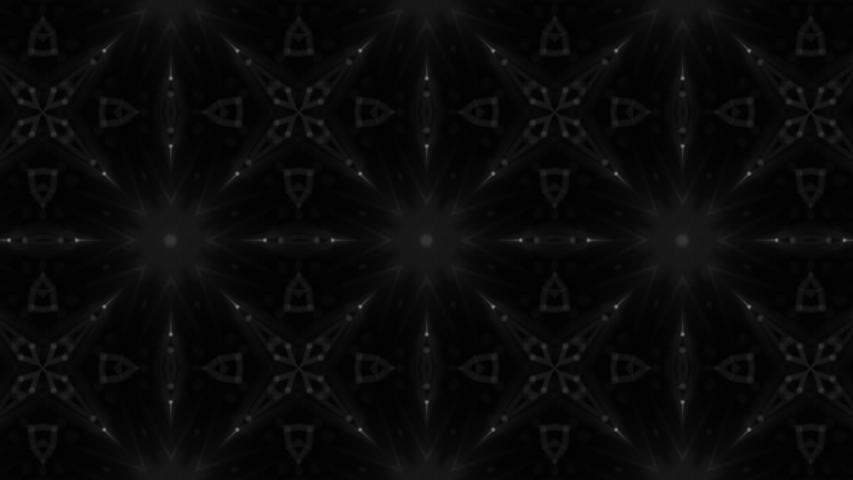 Black-white abstract animated background. Kaleidoscope patterns. 3D rendering   Shutterstock HD Video #1039612847