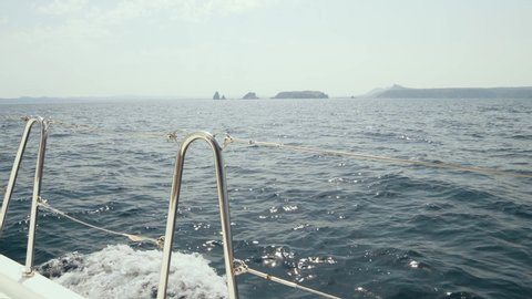 Incredibly beautiful views of the Balearic Islands from a yacht.