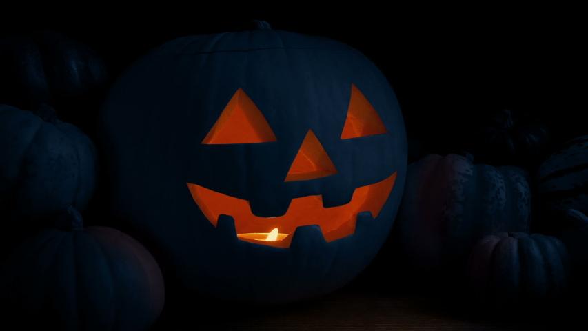 Halloween Pumpkin At Night Loop | Shutterstock HD Video #1039666919