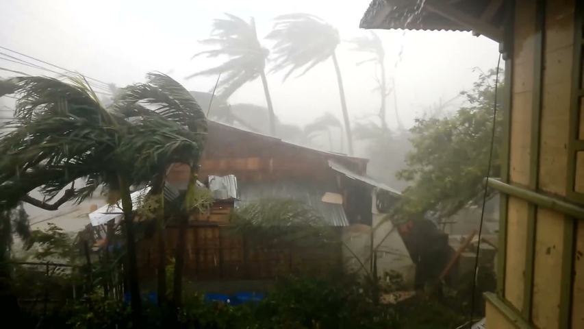 Hurricane Extremely Heavy Wind and Heavy Rain Breaking Trees and Stokes Houses, Super Typhoon 2