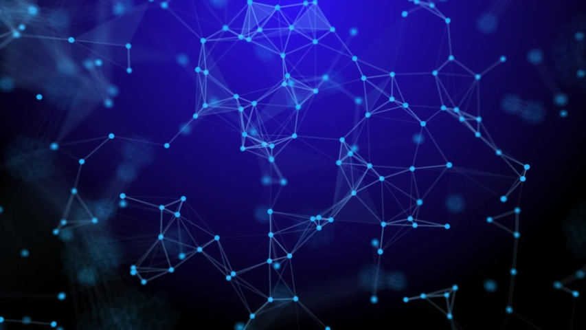 Dots Network Animation connected on Blue background,Technology Abstract animation, Plexus animation | Shutterstock HD Video #1039707047