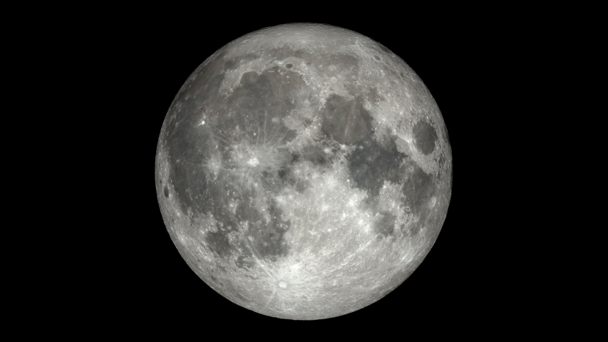 Moon Phases - Northern Hemisphere time-lapse video. Extremely detailed including libration, position angle, and smooth exposure adjustment to reveal Earthshine. | Shutterstock HD Video #1039717841