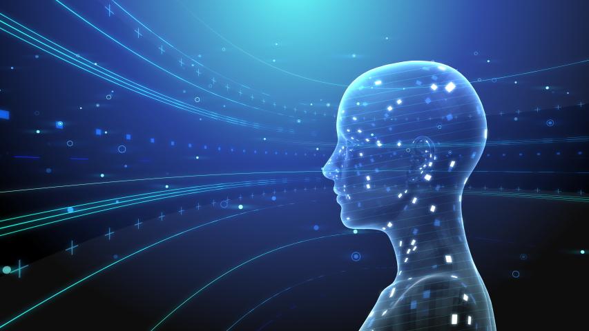 AI, artificial intelligence digital network technologies concepts Background. | Shutterstock HD Video #1039744487