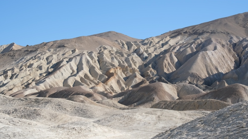 Rocky hills, gullies and canyons in Death Valley, California Desert - Zabriskie Point
