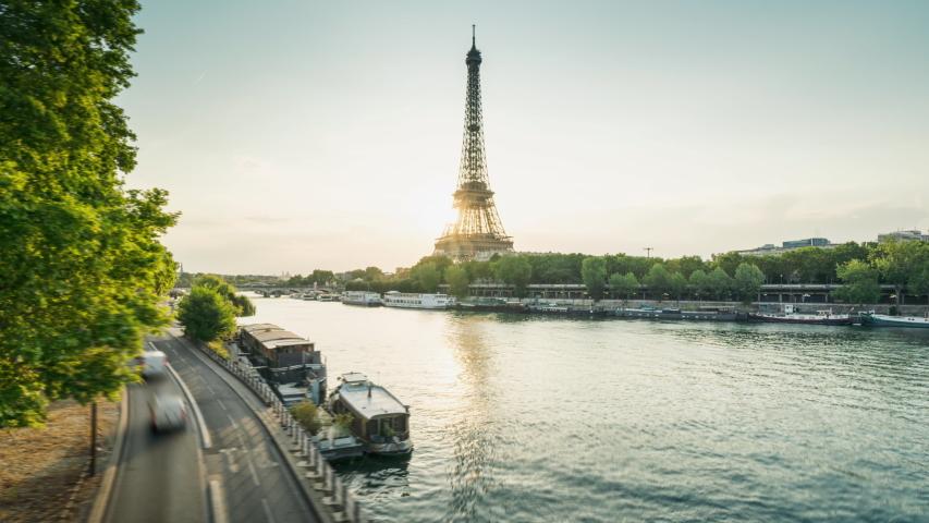Hyper lapse, Eiffel tower, Paris, France   Shutterstock HD Video #1039859174