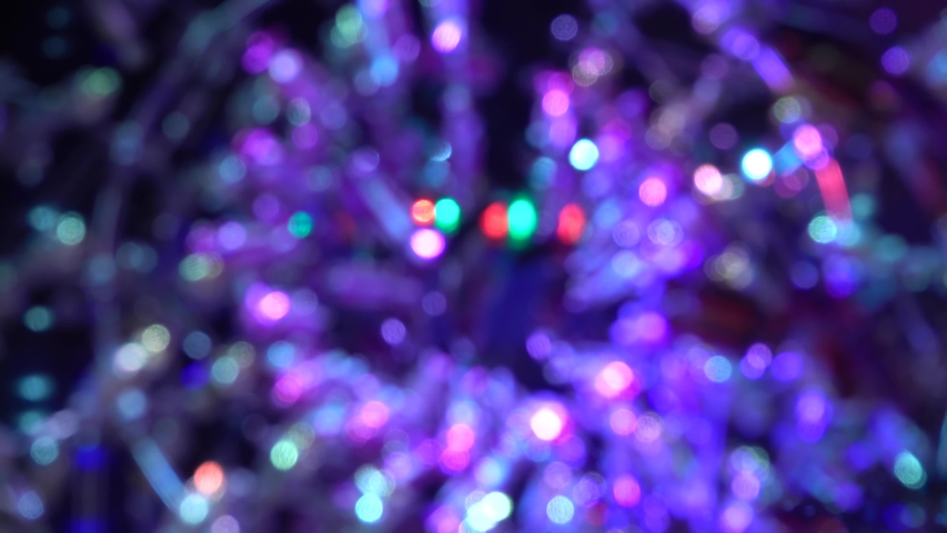 Abstract Blurred Christmas Lights Bokeh Background. | Shutterstock HD Video #1039925789
