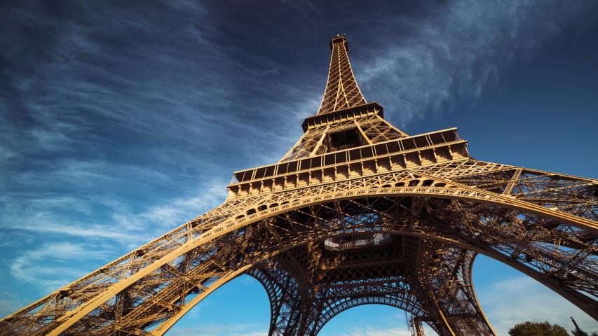 hyper lapse, Eiffel tower, Paris. France #1040000237