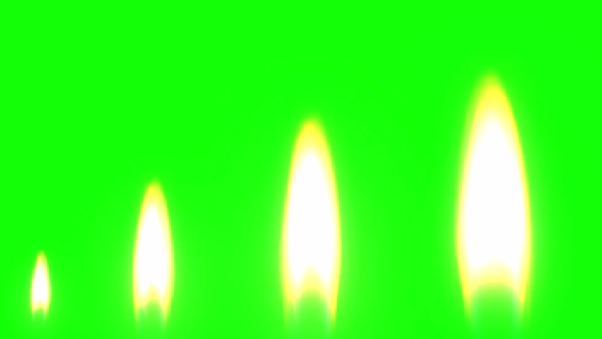 Candle flame with green screen background | Shutterstock HD Video #1040020640