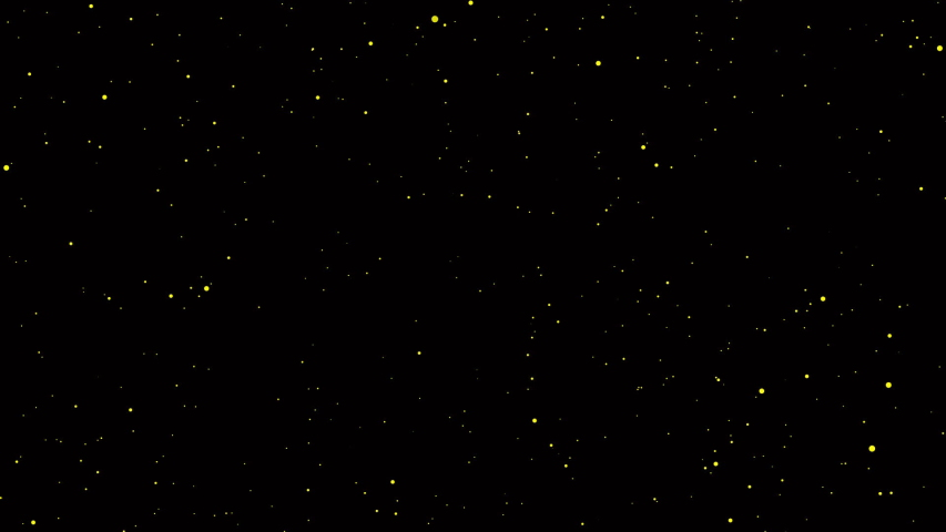 Particle video background. Starburst in galaxy. Glow sparking bokeh with black backdrop. Beautiful glitter texture. Fantasy in dark night. Christmas concept.  #1040090795