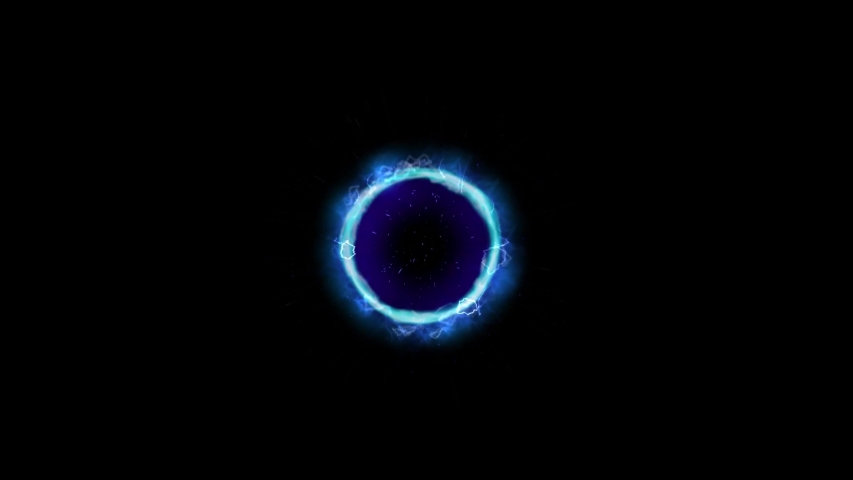 Sci fi portal motion graphics with dark background Royalty-Free Stock Footage #1040106929