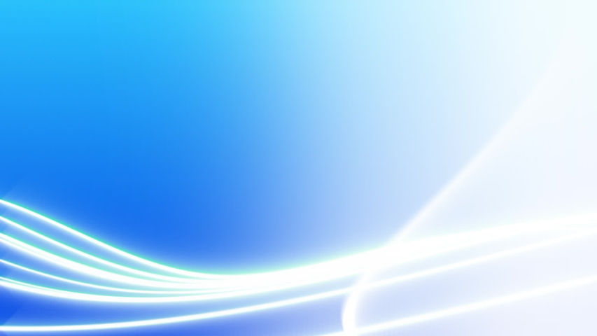 Animation of glowing white light trails on blue background #1040143112