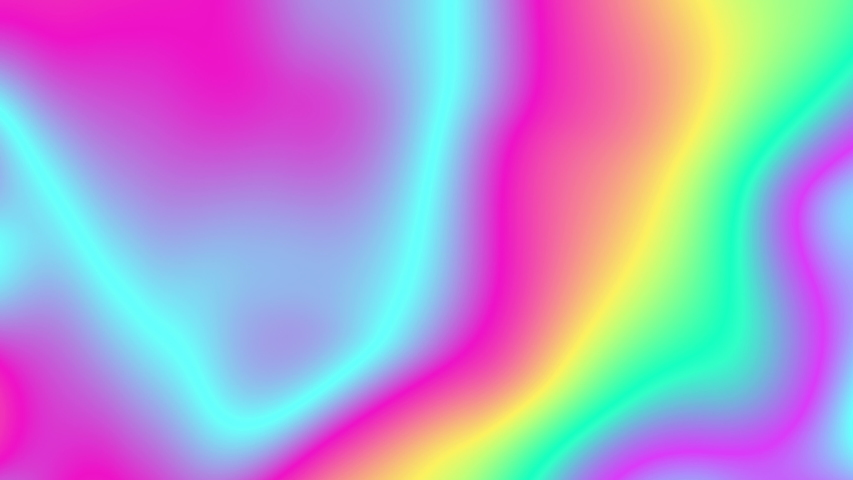 Cheerful colorful liquid animation. Fluid gradients video. Moving random wavy texture. Psychedelic animated abstract curved shapes. Trendy color dynamic. Vivid futuristic design. 4k looping footage