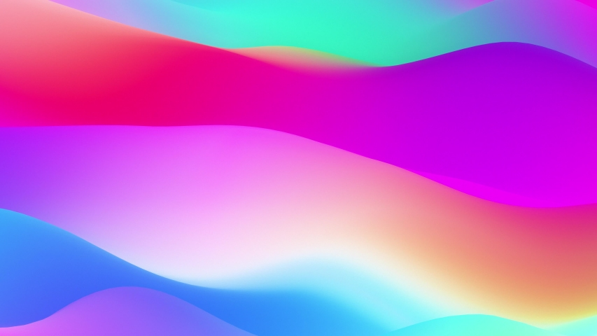 Fluid trendy prism gradient abstract waves. Seamlessly looping animated background.