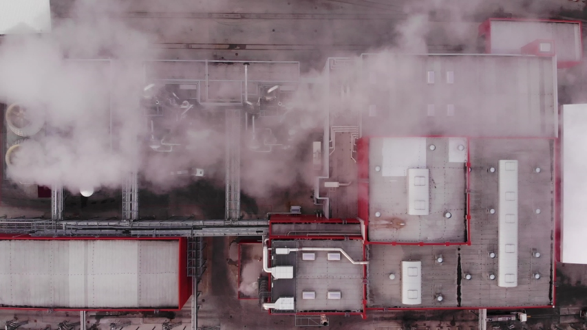 Factory chimney piping smoke into the air pollution. global environment problem. | Shutterstock HD Video #1040244713
