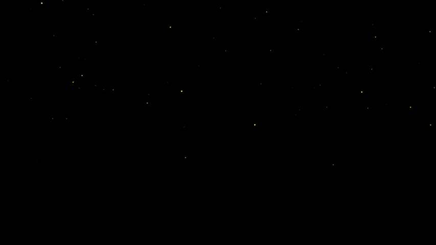 Tiny glowing particles flying up like living stars or fireflies, random motion on black background | Shutterstock HD Video #1040317775
