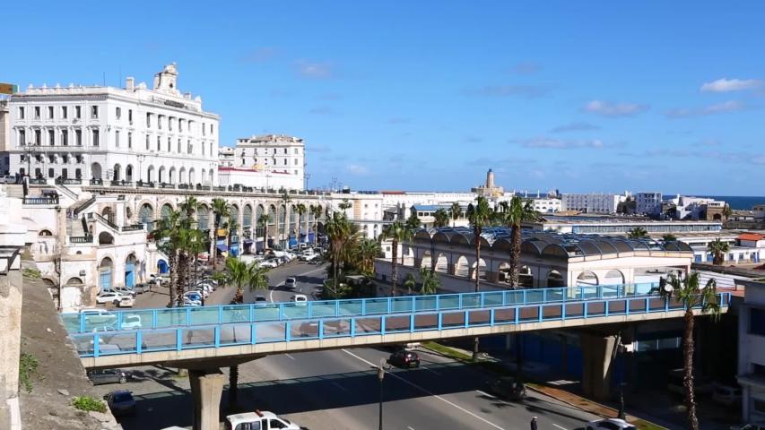 Algiers, Algeria. Beautiful sunny blue sky day.