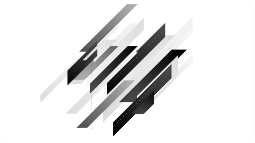 abstract geometric polygon tech corporate motion background seamless looping black and white video animation ultra hd #1040489417