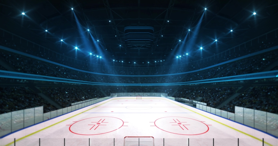 Illuminated The Ice Hockey Rink Stock Footage Video 100 Royalty Free 1040523842 Shutterstock