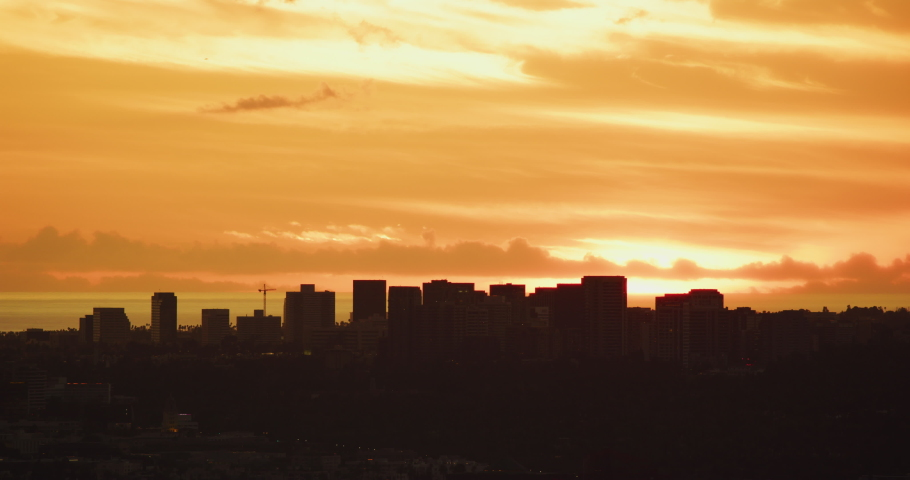 Colorful sunset in Los Angeles, California #1040553692