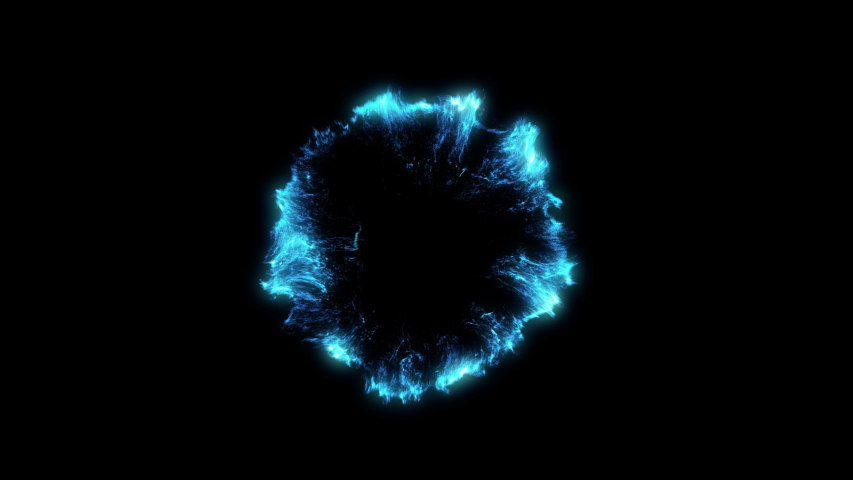 4 Blue Particle Shockwaves Overlay and alpha matte Graphic Elements