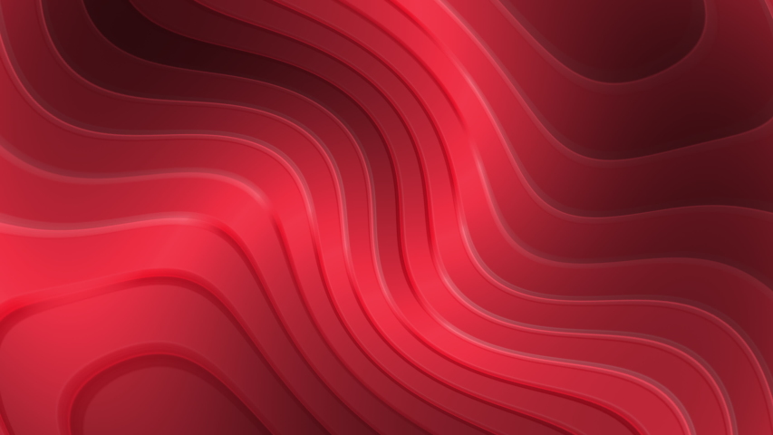 Abstract Architecture Background.red   Circular Building loop . 3d Rendering 3d circles pattern with blinds effect. red clean rings animation. Abstract background for business presentation. Seamles