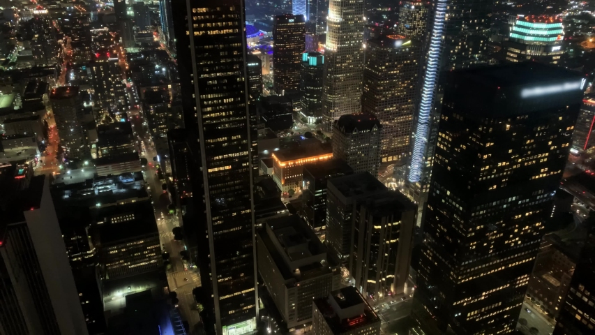 View of Los Angeles downtown, USA | Shutterstock HD Video #1040625851
