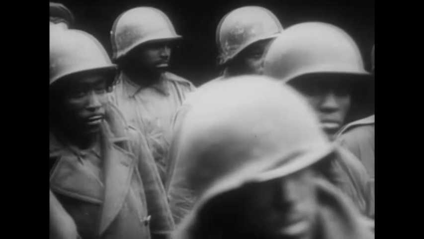 CIRCA 1940s - American soldiers captured by the Germans during World War 2 in this German propaganda film