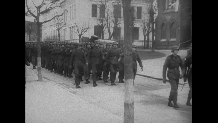 CIRCA 1940s - Denmark surrenders to the Nazis during World War 2 in this German propaganda film