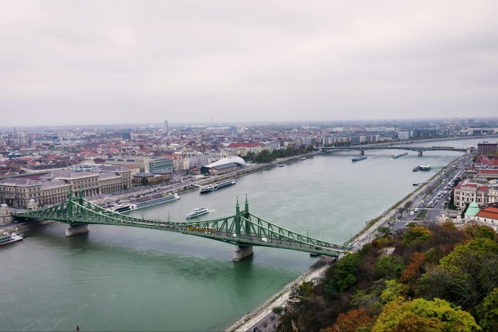 Cityscape Time Lapse of the River Danube in Budapest with Liberty Bridge | Shutterstock HD Video #1040663084