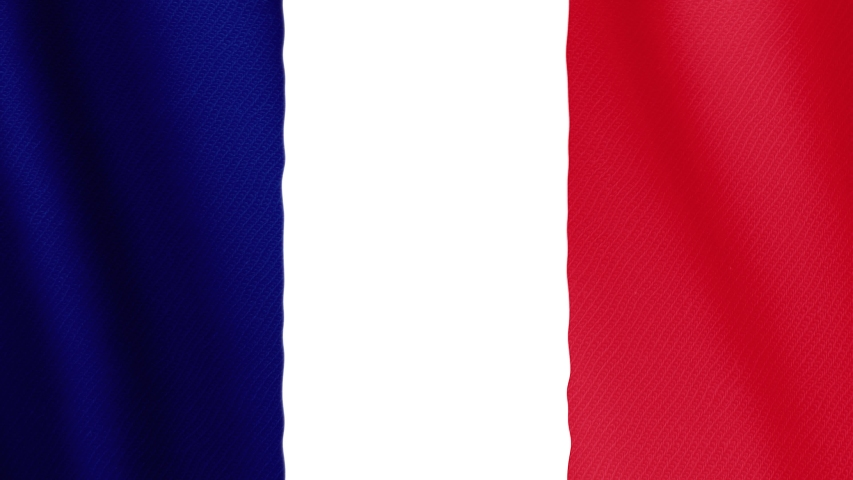 Flag of France - 4K high resolution flag, evolving in the wind. Full HD footage French Republic | Shutterstock HD Video #1040732096