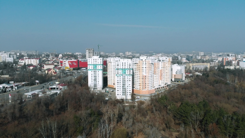 Chisinau , Chisinau / Moldova - 02 19 2019: Cityscape Botanica Chisinau Moldova