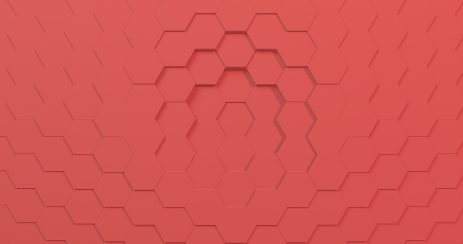 3D rendering of 2019 color of the year hexagon seamless loopable background. 4K bright colors make it great for kids show or trendy video.  | Shutterstock HD Video #1040785964