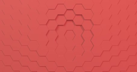 3D rendering of 2019 color of the year hexagon seamless loopable background. 4K bright colors make it great for kids show or trendy video.