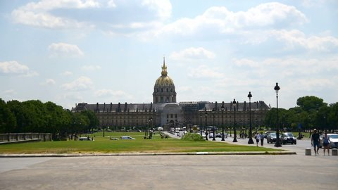 Paris, France - July 06, 2018: Army museum on a summer day